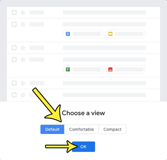 how to change view in gmail