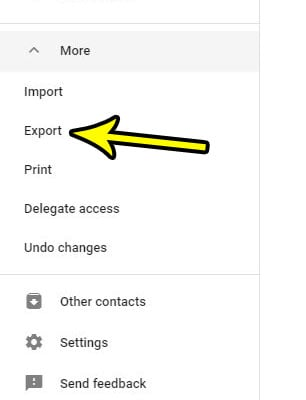 select the export option
