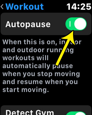 how make workout pause automatically apple watch