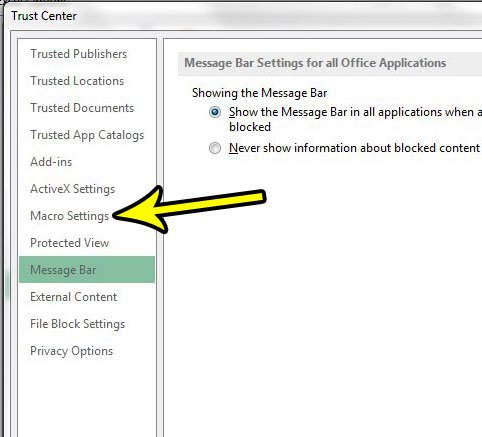 change macro settings in excel 2013