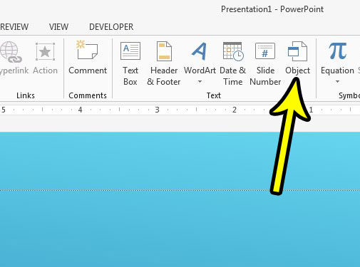 how to insert a pdf into a powerpoint slide