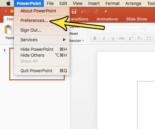 open powerpoint for mac preferences