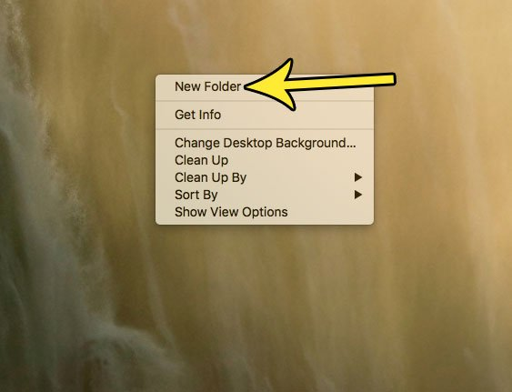 how to create a new folder on a macbook