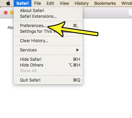 mac safari preferences
