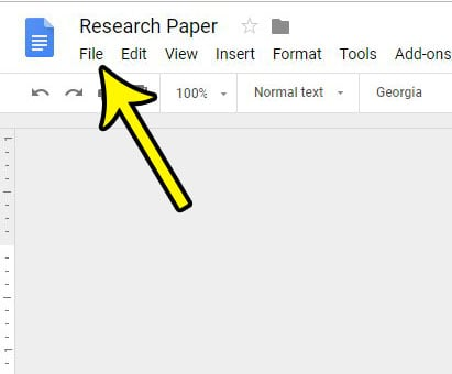 open google docs file menu