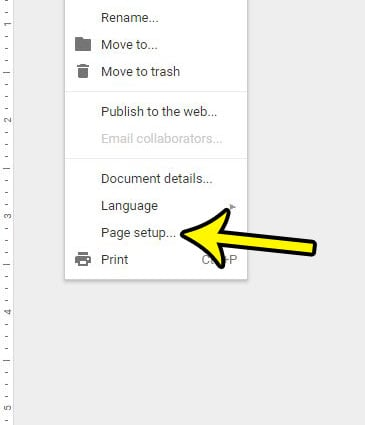 how to get rid of header in google docs