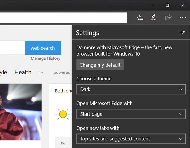 how to put microsoft edge in dark mode