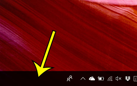 right-click in the taskbar