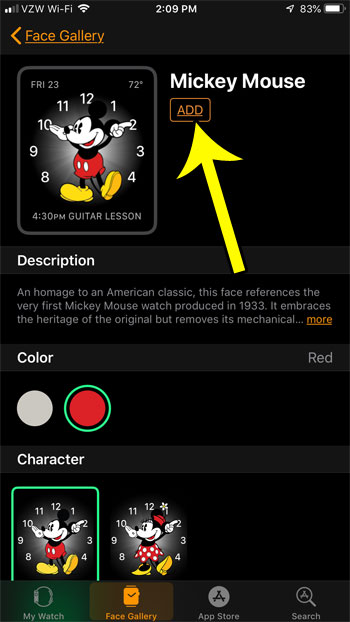 how to add a new face to apple watch