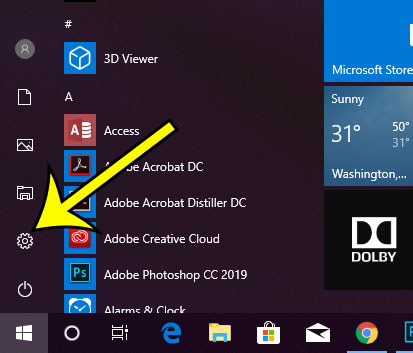 open the windows 10 start menu