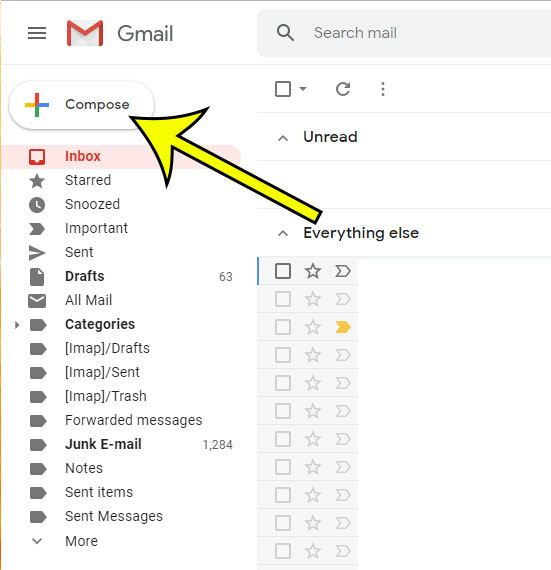 start a new email in gmail