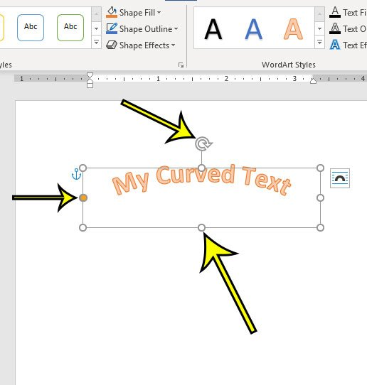 change the look of your curved text