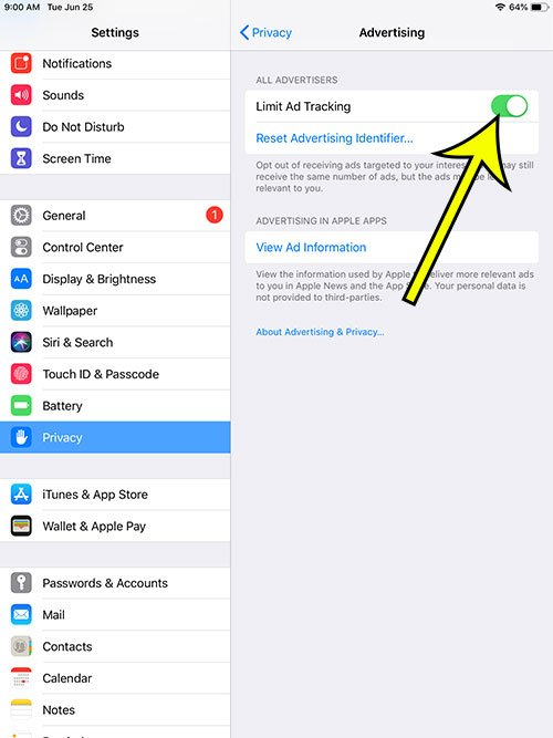 How to Limit Ad Tracking on an iPad