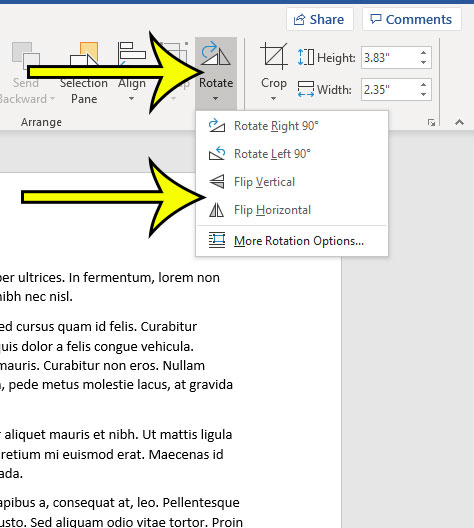 How to Mirror an Image in Word - Live2Tech