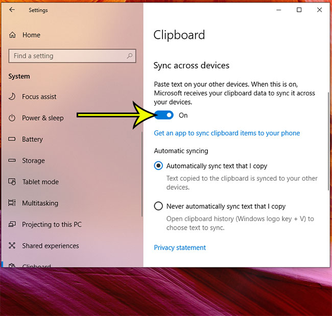 how to sync your clipboard across devices in Windows 10
