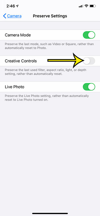 how to automatically reset camera filter settings after pictures on iPhone 11