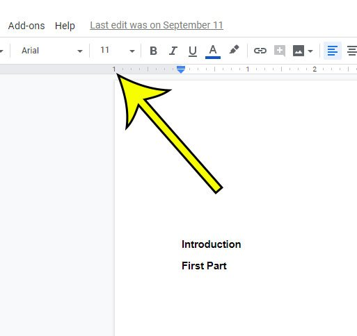 another way to set 1 inch margins in Google Docs