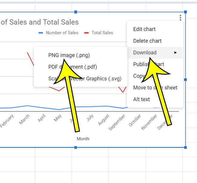 how to download a Google Sheets chart as a png image