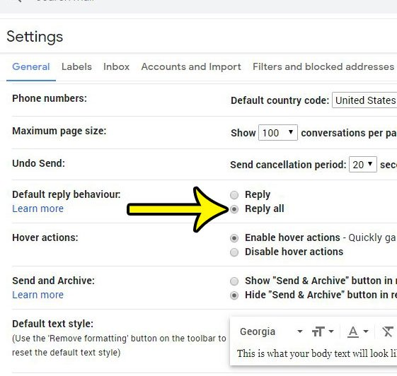 how to reply all by default in Gmail