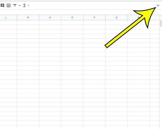 why is Google Sheets toolbar missing