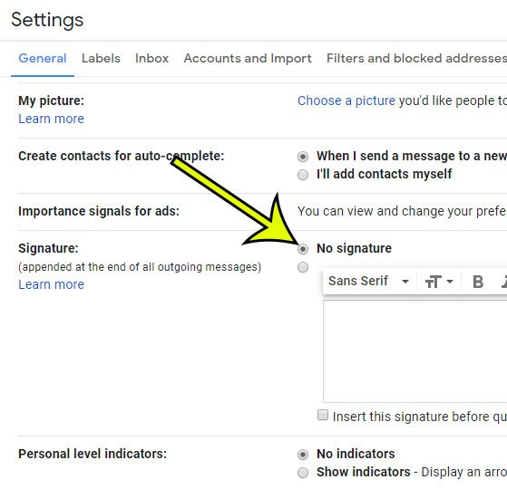 How to Remove Your Gmail Signature