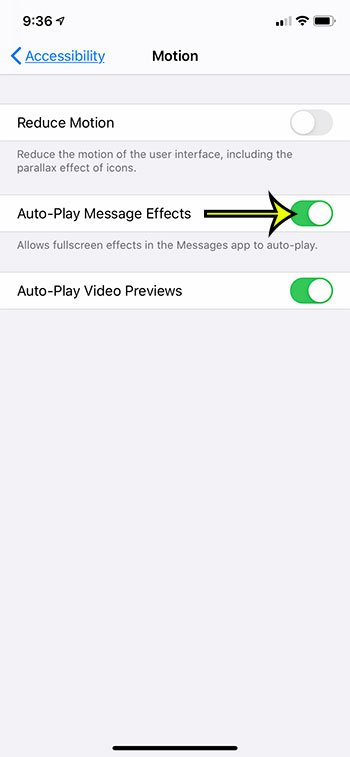 how to enable iPhone text message motion effects for birthdays and holidays