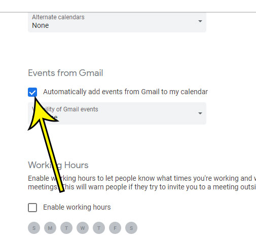 how to stop automatically adding Gmail events to Google Calendar