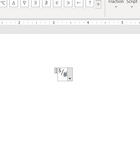 add your fraction to your Word document