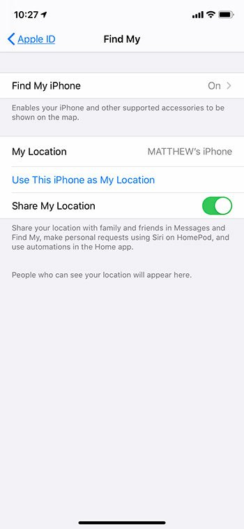 how to see who you are sharing your location with on an iPhone
