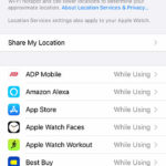 how to get to Location Services on iPhone