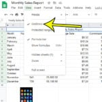 how to remove Google Sheets gridlines