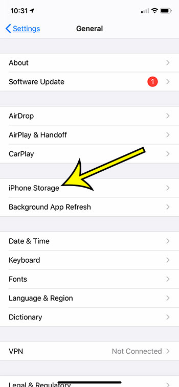 open iPhone Storage