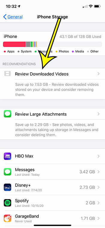 how to review downloaded videos on iPhone 11