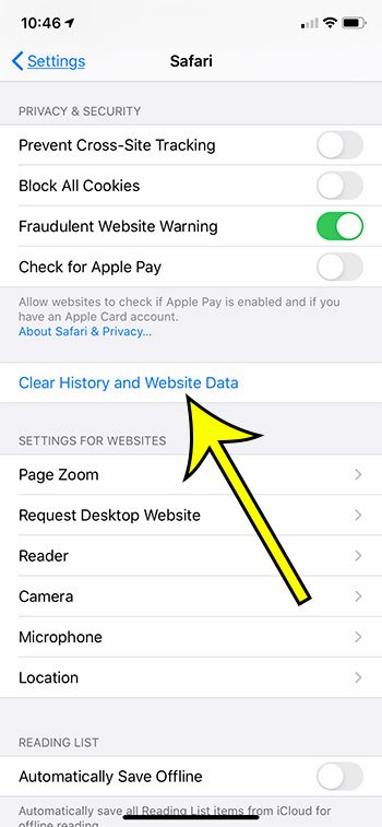 how to clear history on iPhone 6