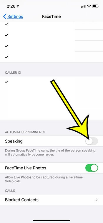 how to stop the speaker tile from getting bigger in FaceTime iPhone app