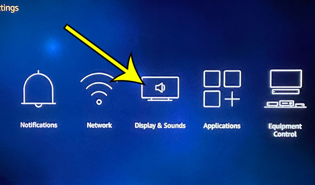 choose Display and Sounds