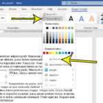 how to remove the border from a Microsoft Word text box