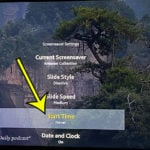 how to disable the screen saver on an Amazon Fire TV Stick