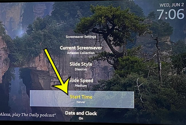 how to turn off the Firestick screensaver